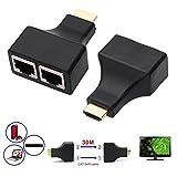 HENGSHENG 30M/100 Feet HDMI Dual RJ45 CAT5E CAT6 UTP LAN Ethernet HDMI Extender Repeater 1080P For HDTV HDPC PS3 STB