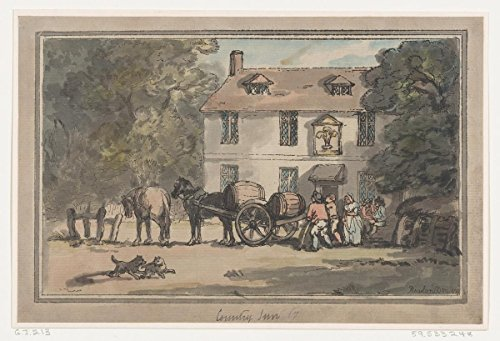 Historic Pictoric Fine Art Print | Thomas Rowlandson | Country Inn | Vintage Wall Art | 11in x 14in ()