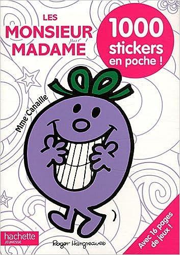 Les Monsieur Madame 1000 Stickers En Poche Amazon Fr