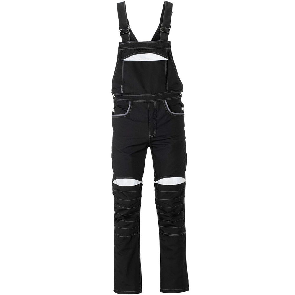 Planam 2920046DuraWork Dungarees Safety Pants 46 Size Black//Gray
