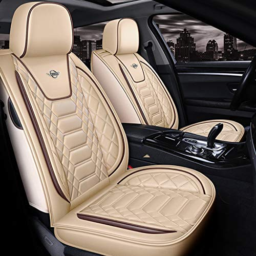 WL Leather Car Seat Cover Easy To Clean PU Leather Car Seat Cushions 5 Seats Full Set,C: Sports & Outdoors