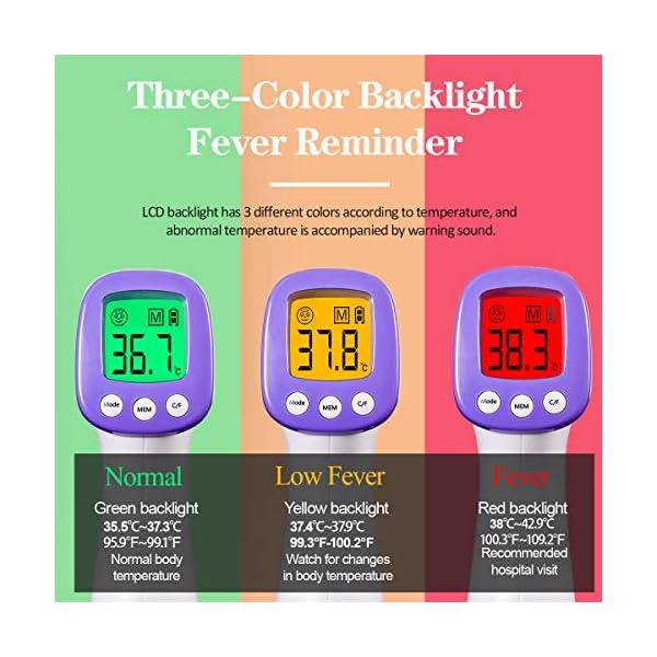 Thermomètre Frontal HUHETA, Thermometre Adulte Infrarouge, Thermometre sans contact, Écran LCD, Thermometre Infrarouge…