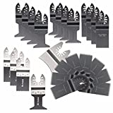 BABAN 25 Pieces Mixed Universal Oscillating Multitool Quick Release Saw Blade Set Fit  Dewalt, Dremel Multi-Max, Fein Multimaster, Genesis, Hardin, Makita, Milwaukee, Porter Cable and More