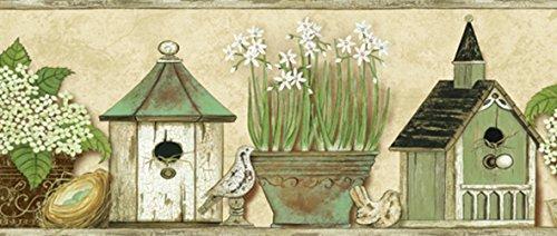 - Chesapeake PUR44561B Deedle Cream Sweet Homey Portrait Wallpaper Border