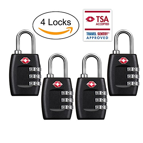 TSA Luggage Locks 4Pack Combination product image