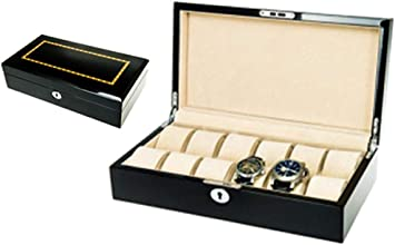 HJ Caja de reloj para el hogar Cajas de joyería Regalo Viaje Hombre Mujer Caja de