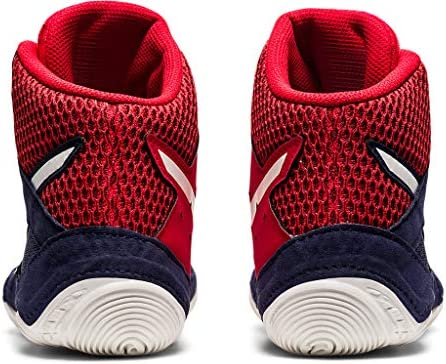 51YaFpmyaLL. AC ASICS Men's Snapdown 3 Wrestling Shoes    Made in USA or ImportedBreathable Mesh Upperkimono tongue inspiration provides a better foothold and an improved fitSynthetic Leather and Mesh Upper: Lightweight, comfortable and breathable, enhancing performance and fit