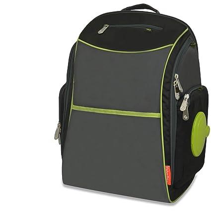 Fisher-Price fastfinder resistente nailon bolso mochila, negro/gris