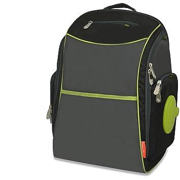Fisher-Price fastfinder resistente nailon bolso mochila, negro/gris: Amazon.es: Bebé