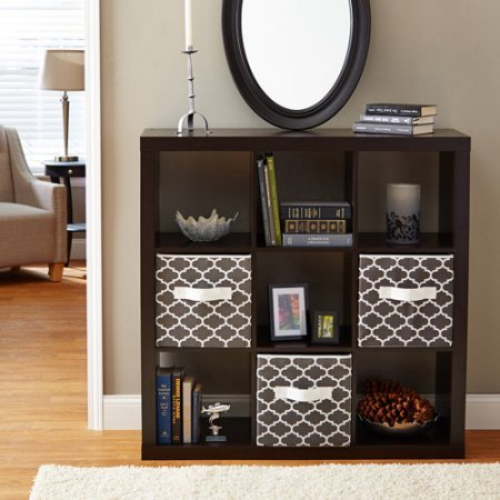 Better Homes and Gardens 9-cube Organizer Storage Bookcase Bookshelf Cabinet Divider Multiple Colors - Espresso from Better Homes and Gardens