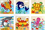 Vibgyor Vibes Early Age 6 in 1 Wood Block Puzzles for small Kids. (Marine Animals/ Aquatic Animals/ Ocean Animals theme)