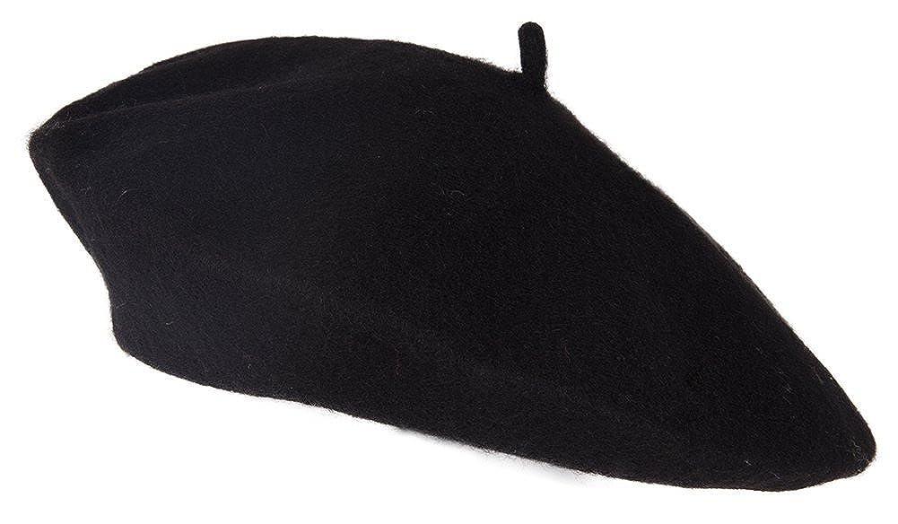 Black Wool Beret Luxury Divas H00159