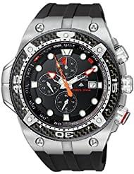 (新低)西铁城光动能碳纤维男士腕表 折后$417.00 Citizen Eco-Drive Dive Watch