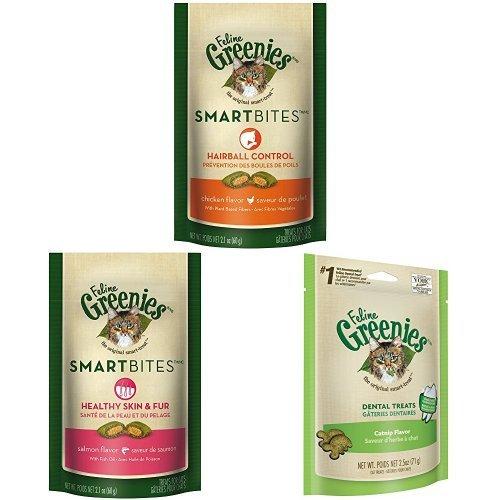 Feline Greenies And Feline Greenies Smartbites Variety 6 Pack ()