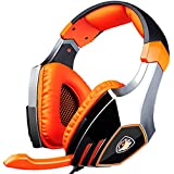 SADES A60 Pro 7.1 Surround Sound Gaming Headsets Stereo PC USB Headphones with Microphone Vibration