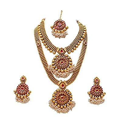 Buy Swarajshop South Indian Bridal Necklace Set Jewellery For