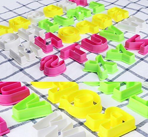 ilauke 26 Grandes Découpoirs Alphabet Emporte-Pièces Multicolores en Plastique pour Gâteau Fondant Biscuit Cookie Pâtisserie