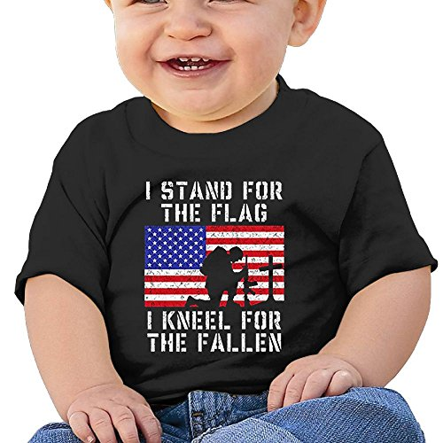 Price comparison product image REBELN I Stand For The Flag Kneel Fallen Cotton Short Sleeve T Shirts For Baby Toddler Infant