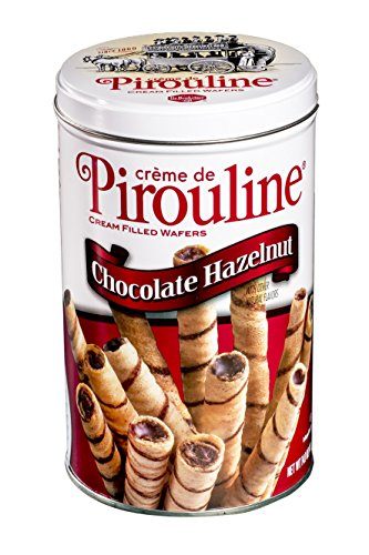 Creme Wafer Cookies (Pirouline Rolled Wafers, Chocolate Hazelnut, 14-Ounce Tins (Pack of 6))
