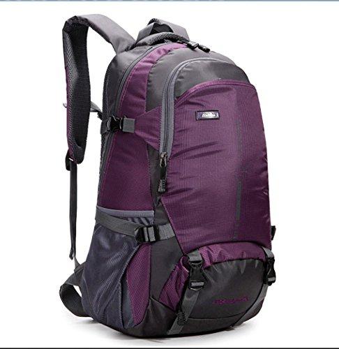 BUSL Montañismo al aire libre bolso bandoleras para hombres y mujeres mochila casual transpirable impermeable . black . 18 inch Purple
