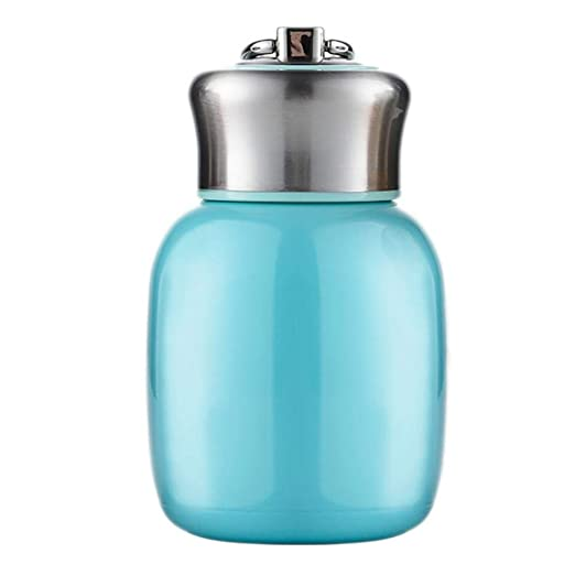 Botella térmica pequeña de 200 ml, con aislante al vacío, botella de agua sin fugas, para zumo, leche, vacío, para bebidas frías y calientes, regalo ...
