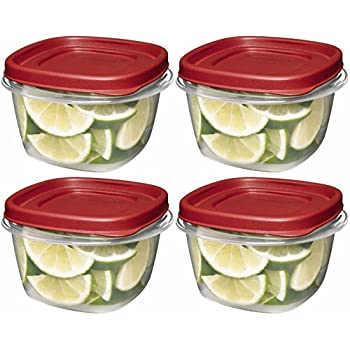 Amazoncom Rubbermaid Easy Find Lids Square 2 Cup Food Storage