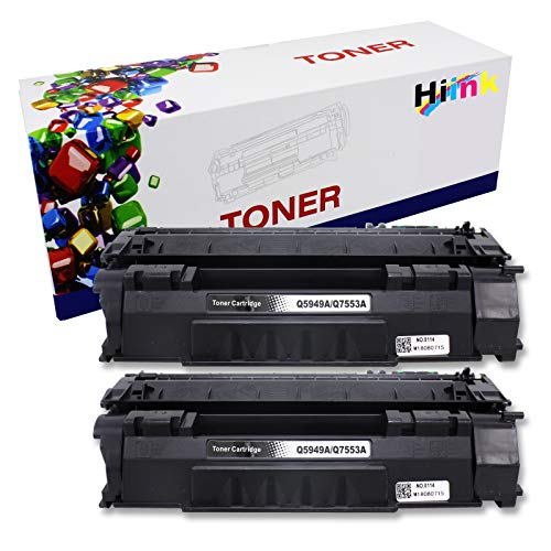 HIINK Compatible Toner Cartridge Replacement for HP Q5949A 49A Toner use with Laserjet 1160 1160Le 1320 1320n 1320nw 1320t 1320tn 3390 3392 Printers (2-Pack)