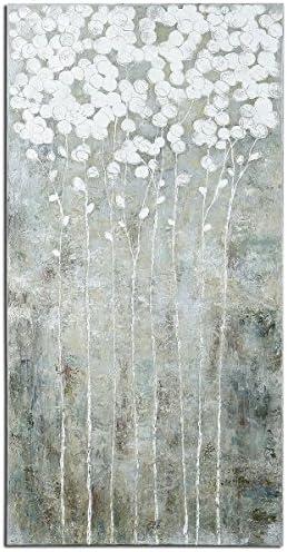 Uttermost 41908 Cotton Florals Wall Art, White