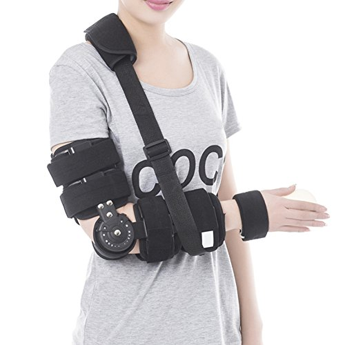 Hinged Full Arm Bracket Stabilizer Elbow Braces Support for for Fracture Dislocation of Arms Graft Immobilization in Accident Alleviating Pain Boosting Blood Circulation and Recovery up for Men Women by Lolicute