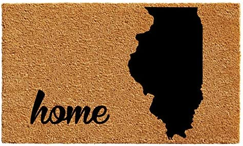 Calloway Mills 105212436 Illinois Doormat, 24 x 36 , Natural Black
