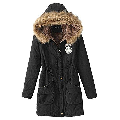3 casual agnello giacche dimensioni Inverno nuovo pelliccia collo di tratto femminile lungo e con cotone di cappotto di grandi di cappuccio pHgRBpwqz
