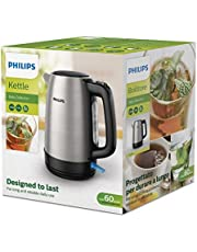 Philips Daily Collection Kettle Stainless Steel, Spring lid, Light indicator, 1.7 L - HD9350, Silver