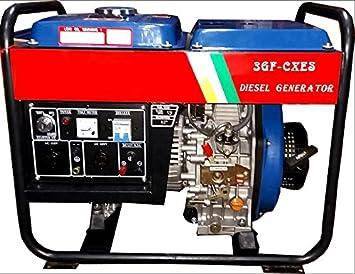 Generador de corriente diesel Grupo electrógeno Motor monofásico 110/220 V 3.3 kW: Amazon.es: Jardín