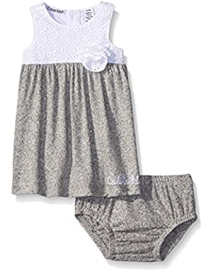 Baby Girls' Marled Heathered French Terry Dress and Panty