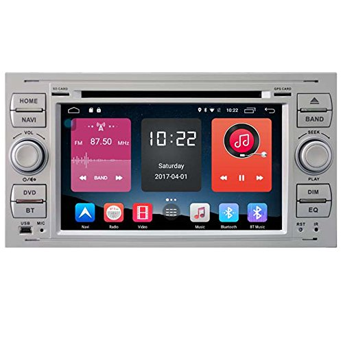 Autosion In Dash Android 6.0 Car DVD Player Sat Nav Radio Headunit GPS Navigation Stereo for Ford Focus Fiesta Fusion C-Max Galaxy Tourneo Transit Kuga Support Bluetooth SD USB Radio OBD WIFI DVR by Autosion