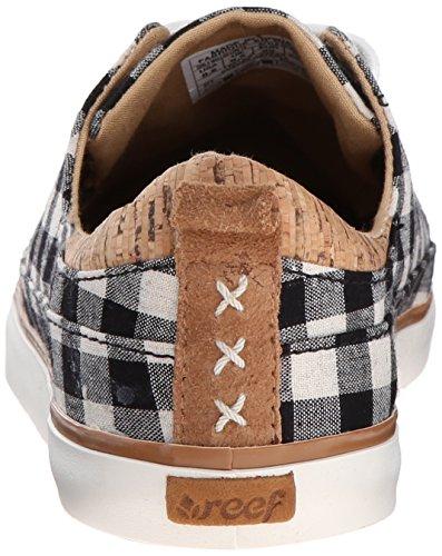 Donne Di Barriera Corallina Walled Low Tx Fashion Sneaker Black Check