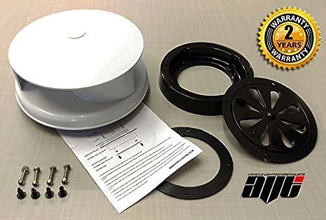 Extractor de aire rotatorio para ventilación para furgonetas, ajuste universal, color blanco.