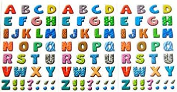 Minilabel 16mm Coloured Sticky Letters A Z Alphabet Stickers Self Adhesive Sticky Labels Office Products