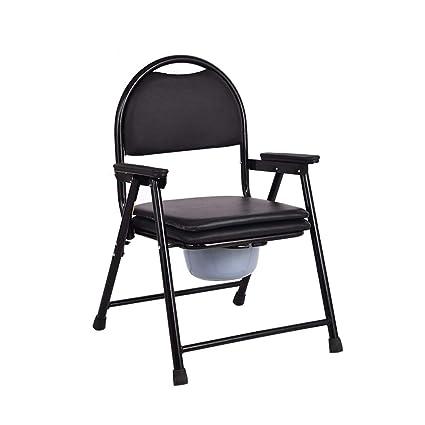 Old Man Sitting Chair Siège de Toilette Mobile