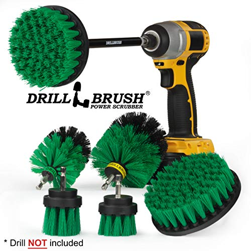 - Drillbrush Ultimate Kitchen Cleaning Kit with 7 Inch Extension - Kitchen Cleaning Supplies - Cast Iron Skillet - Drill Brush - Mold Remover - Calcium - Rust - Hard Water - Stove, Burners, Oven Rack