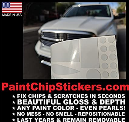 Paint Chip Stickers - Body Color Matching Chip & Scratch Bumper Repair FIX  in Seconds NO Smell, NO Mess (Metallic Color (Contact us with Your Paint
