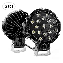 Specification: LED Power: 96W (32 x 3W High Intensity LED) Beam Pattern: Spot Beam, focused light in the middle of the lane, extreme further distance through the darkness. Input Voltage: 9-30V DC (fits 12V, 24V vehicles) Working Lifespan: Ove...