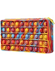 BINGLALA Pop Simple Sensory Pencil Box Push Pop Pencil Case Fidget Toy Bubble Stationery Storage Bag Decompression Toy for Kids Office Stationery Organizer