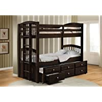 Acme 40000A Micah Twin/Twin Bunk Bed with Trundle, Espresso Finish