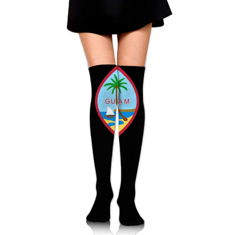 Girls Women's Coat Of Arms Of Guam Over Knee Thigh High Stockings Fashion Socks, One Size