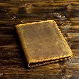 Pegai Personalized Passport Wallet, Distressed Leather Travel Wallet, Passport Holder, Passport Cover - Pike   Cinnamon Brown