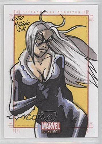 caio-majado-black-cat-1-1-trading-card-2012-rittenhouse-marvel-bronze-age-sketchafex-sketch-cards-cm