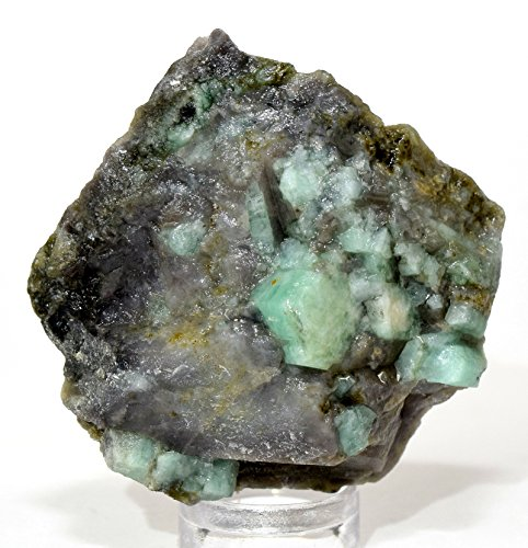 155ct 40mm Natural Green Emerald Rough in Matrix Crystal Gemstone Mineral Rock Cab for Cabbing/Carving - Brazil