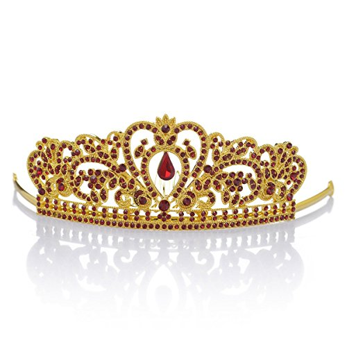 [Remedios Crystal Flower Girls Crown Tiara Prom Party Headband Kids Hair Comb Girls Princess Headpiece, Gold &] (Dance Fantastic Costumes)