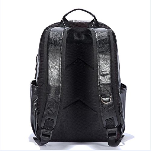 Mefly College Students Backpack Backpack Fashion Trend Female Students Korean Business Travel 16 Inches black jEDu9lphc5